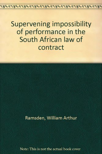 9780702116292: Supervening impossibility of performance in the South African law of contract