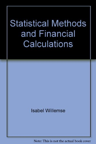 9780702123740: Statistical Methods and Financial Calculations