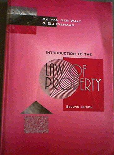 9780702142192: Introduction to the Law of Property