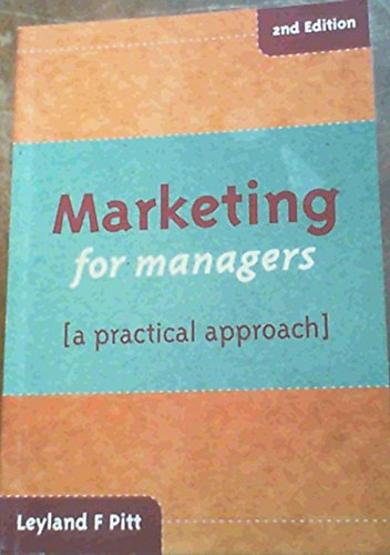 9780702142222: Marketing for Managers: A Practical Approach