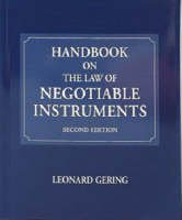 9780702145261: Handbook on the Law of Negotiable Instruments