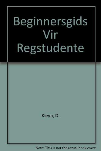 9780702155888: Beginnersgids Vir Regstudente (Afrikaans Edition)