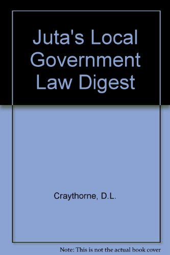 9780702157080: Juta's Local Government Law Digest