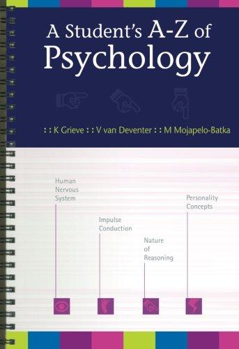 9780702171604: A Student's A–Z of Psychology