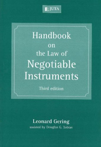 9780702172632: Handbook on the Law of Negotiable Instruments