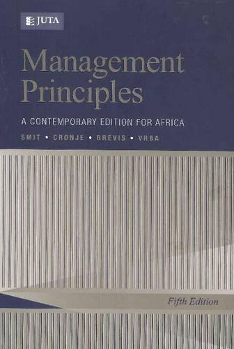 9780702172816: Management Principles: A Contemporary Edition for Africa