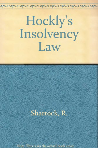 9780702173011: Hockly's Insolvency Law