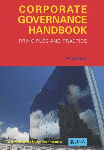 9780702177590: Corporate Governance Handbook: Principles and Practice