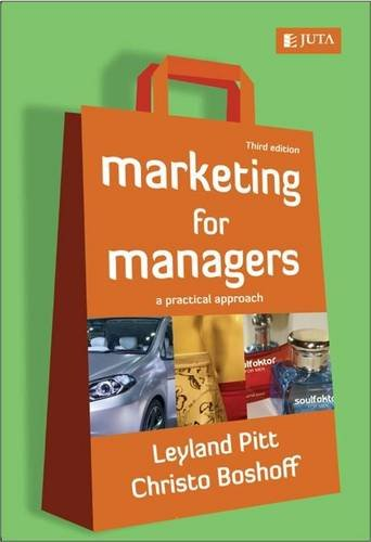 9780702178054: Marketing for managers