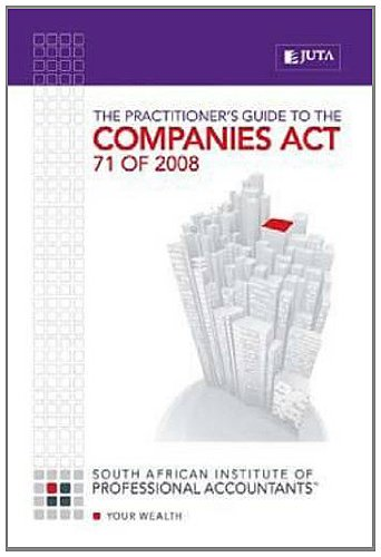 9780702188992: The Practitioner's Guide to the Companies Act 71 of 2008