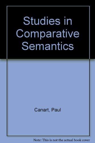 9780702210594: Studies in Comparative Semantics