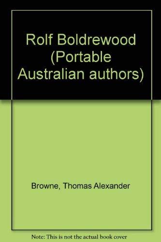 9780702212888: Rolf Boldrewood (Portable Australian authors)
