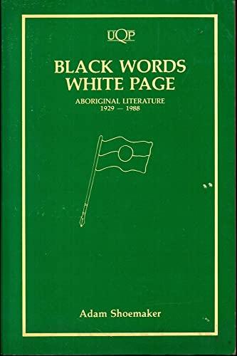 9780702221491: Black Words, White Page: Aboriginal Literature 1929-88