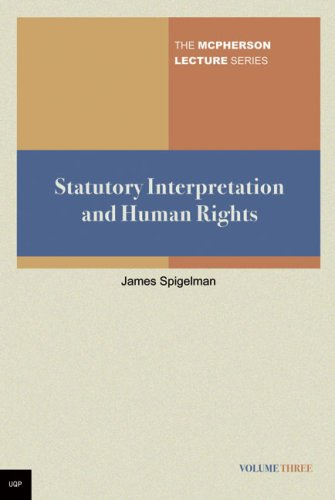 9780702236877: Statutory Interpretation and Human Rights (The McPherson Lecture series)