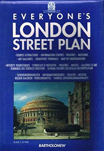 9780702806339: Everyone's London Street Plan: 1: 15, 000