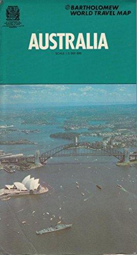 Bartholomew world travel map: Australia (World travel: John Bartholomew and