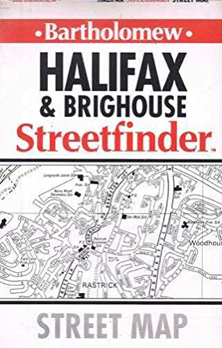 9780702821196: Halifax and Brighouse Streetfinder Map