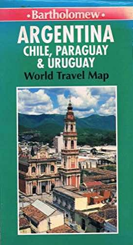 9780702821998: Argentina Chile, Paraguay & Uruguay : World Travel Map