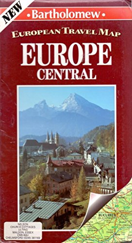 European Travel Map: Europe Central (Bartholomew World Travel Map): Bartholomew