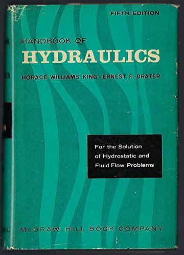 9780703460110: Handbook of Hydraulics 5TH Edition