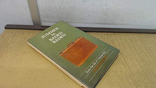 9780704326002: Summer in Baden-Baden: From the Life of Dostoyevsky