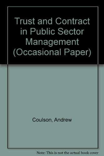 9780704418042: Trust and Contract in Public Sector Management (Occasional Papers)