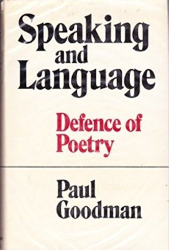 9780704500051: Speaking and Language: Defence of Poetry