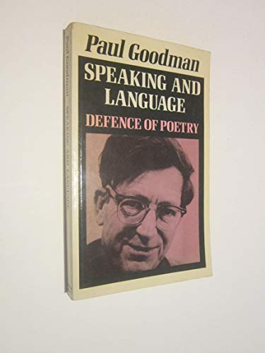 9780704500068: Speaking and Language: Defence of Poetry