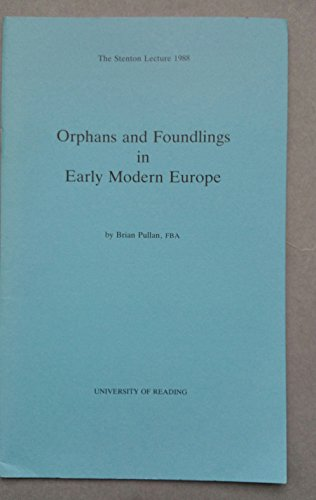 9780704902190: Orphans and foundlings in early modern Europe