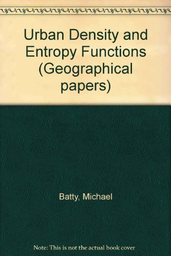 9780704903449: Urban Density and Entropy Functions
