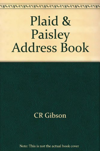 9780705352802: Plaid & Paisley Address Book