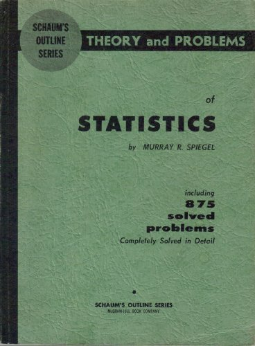 9780706022711: Schaums Theory and Problems of Statistics