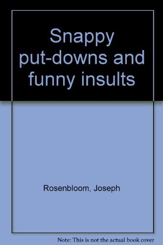 9780706127911: Snappy put-downs and funny insults