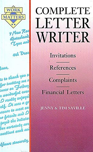 9780706373554: Complete Letter Writer (Work Matters)