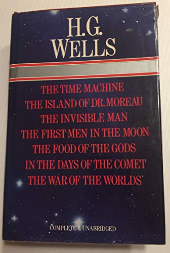9780706425611: H.G. Wells Seven Novels, Complete & Unabridged The Time Machine, Island of Dr. Moreau, Invisible Man, First Men In The Moon, Food of the Gods, In the Days of the Comet and War of the Worlds
