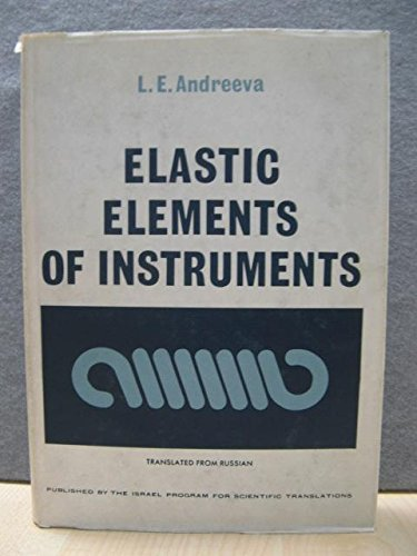 9780706505689: Elastic Elements of Instruments