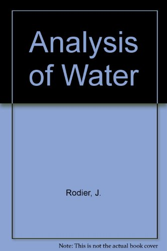 9780706512557: Analysis of Water