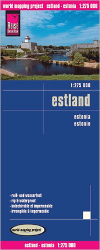 9780706524796: Estonia 1:275 000 Travel Map, waterproof, GPS-compatible, REISE, 2011 edition