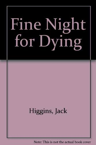 9780706610703: Fine Night for Dying