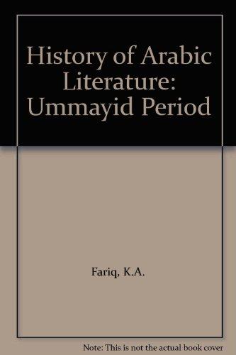 9780706901795: History of Arabic Literature: Ummayid Period