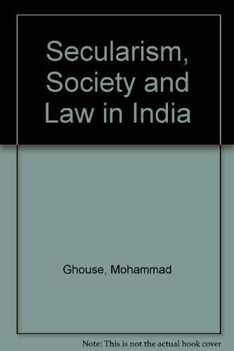 9780706902327: Secularism, Society and Law in India