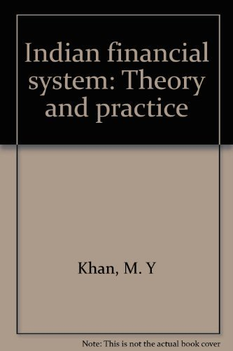 9780706911015: Indian financial system: Theory and practice