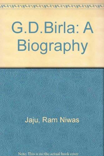 9780706928570: G.D. Birla: A Biography