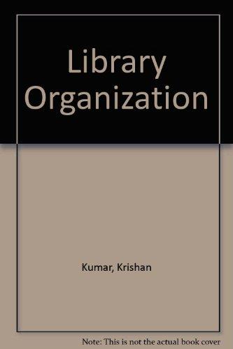9780706933819: Library Organization
