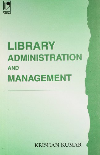 9780706984606: Library Administration and Management