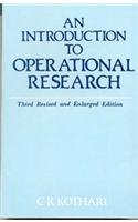 An Introduction To Operational Research: C R Kothari