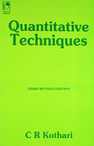 9780706987454: Quantitative Techniques