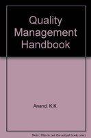 9780706989182: Quality Management Handbook