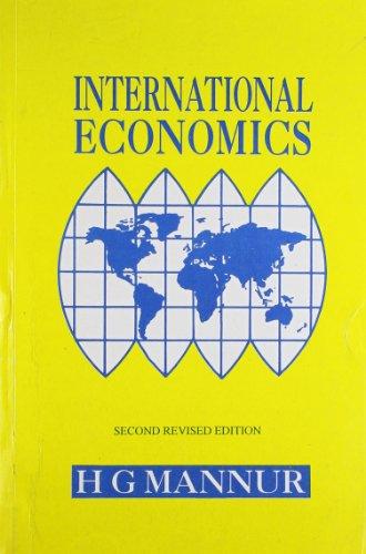 International Economics: H.G. Mannur