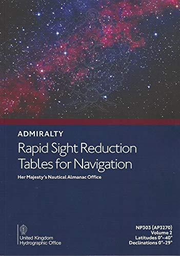 9780707741093: Rapid Sight Reduction Table: v. 2: Latitudes 0-40, Declination 0-29 (Admiralty Rapid Sight Reduction Tables)